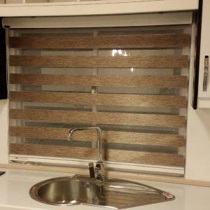 خرید اینترنتی پرده زبرا اتاق خواب و پذیرایی و آشپزخانه طرح چوب