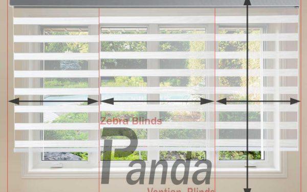 آموزش تصویری اندازه گیری پنجره برای پرده زبرا