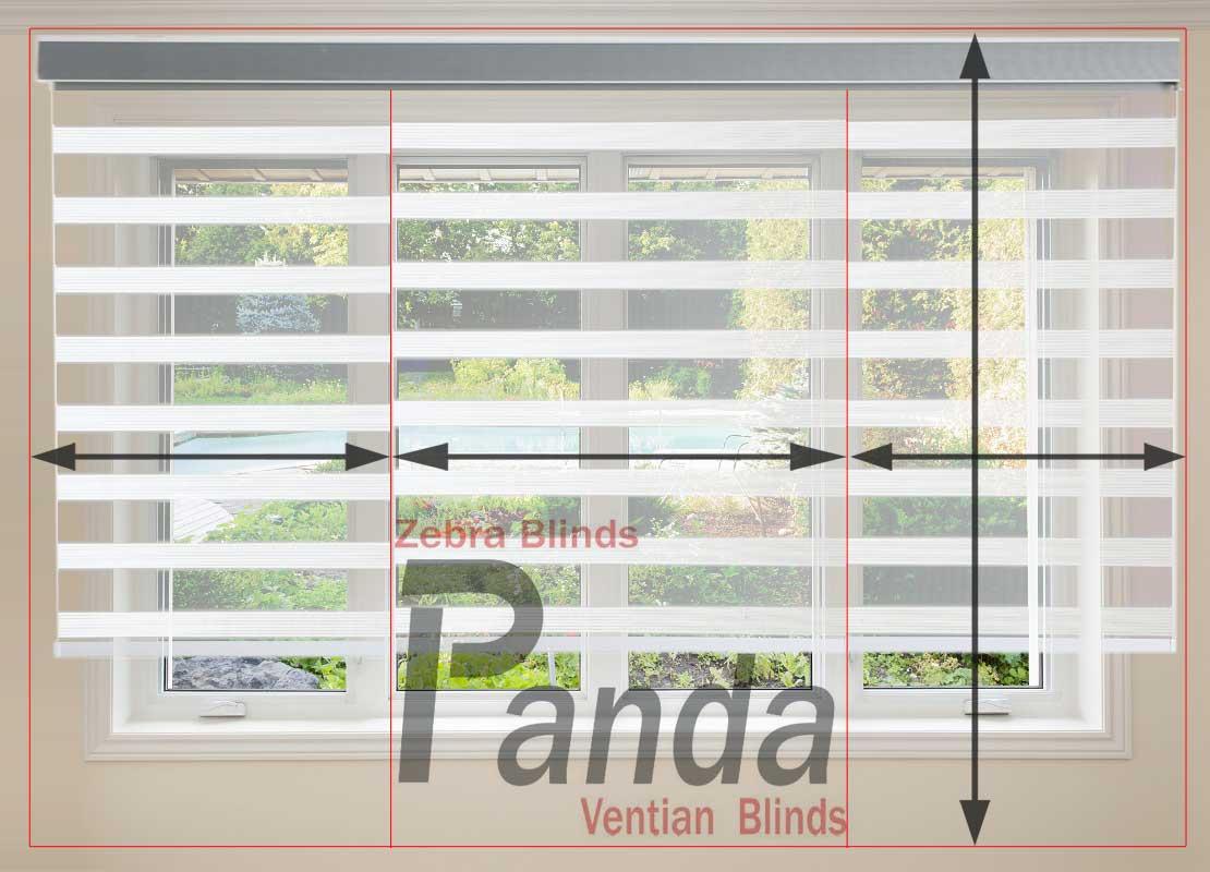 اندازه گیری پرده زبرا آموزش تصویری اندازه گیری پنجره برای پرده زبرا