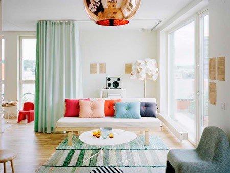 روح بخشیدن به خانه ، پارچه های رنگی و ضد آبی ، درب شیشه ای